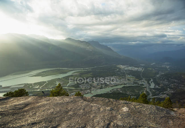 Rivers and Squamish cityscape in British Columbia, Canada — Stock Photo