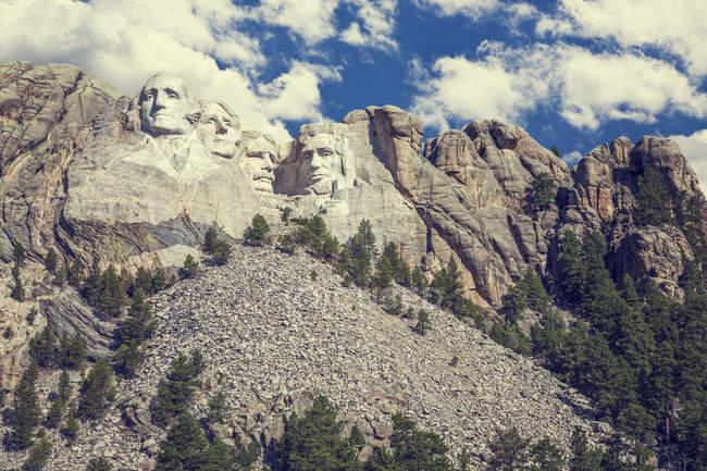 Tallas de piedra de Mount Rushmore, Black Hills, Dakota del Sur, Estados Unidos - foto de stock