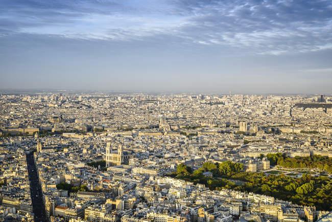 Veduta aerea del paesaggio urbano di Parigi, Francia — Foto stock