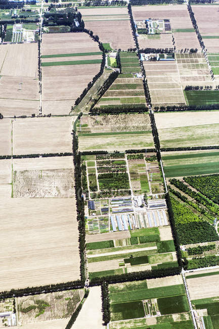 Aerial view of rural farmland — Stock Photo