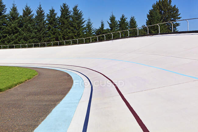 Elevated racing track outdoors — Stock Photo