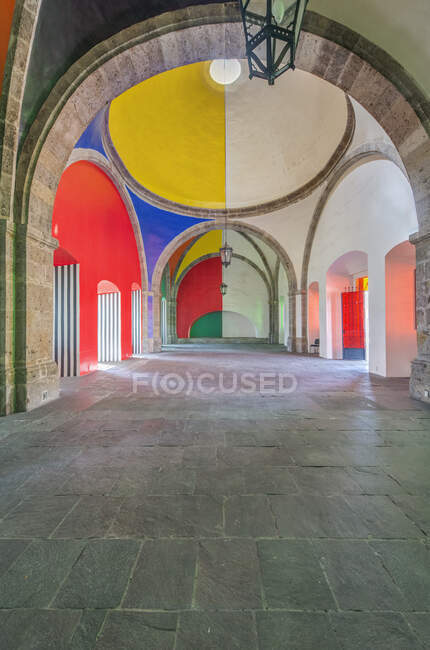 Colorful domes of Hospicio Cabanas, Guadalajara, Jalisco, Mexico — Stock Photo