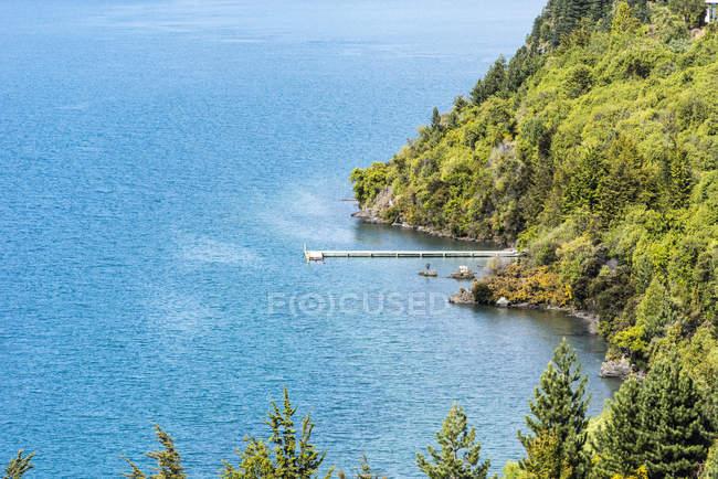 Luftaufnahme des Docks in Lake wanaka, Neuseeland — Stockfoto