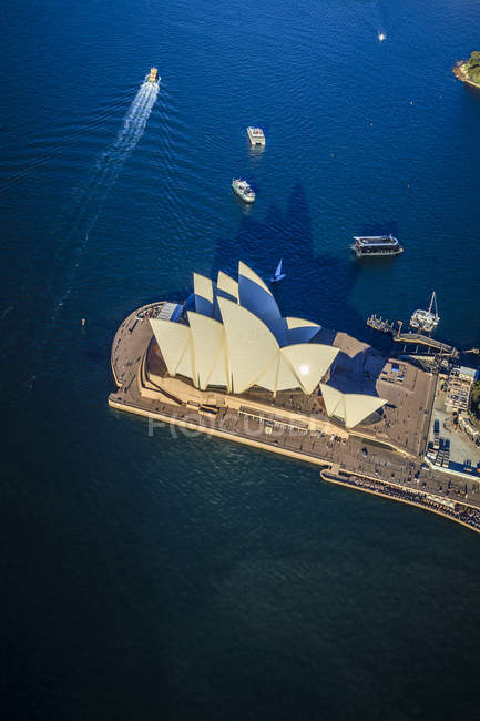 Aerial view of Sydney opera house in Sydney, Australia — Stock Photo