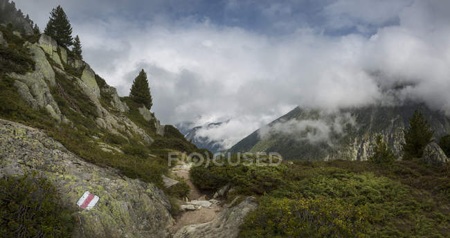 Wanderweg zum Mt Blanc, Schweiz — Stockfoto