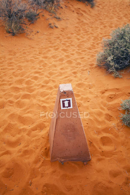 Stone marker in Valley of Fire State Park, Nevada, United States — Stock Photo