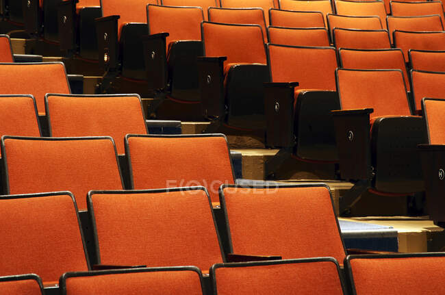 Cadeiras vazias no cinema — Fotografia de Stock