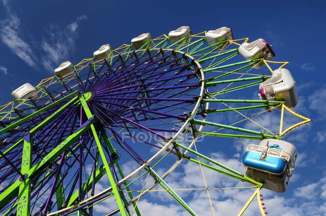 Ferris roue au parc d'attractions, Puyallup, Washington, Etats-Unis — Photo de stock