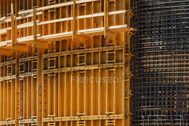 Construction form and rebar, Spokane, Washington, USA — Stock Photo