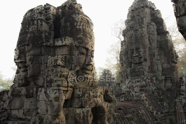 Прикрашений кам'яна скульптури, Ангкор, Камбоджа — стокове фото