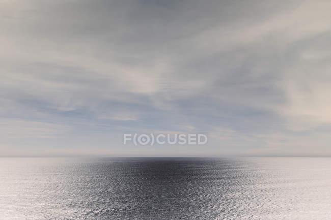 Paesaggio di vasto oceano acqua, cielo e orizzonte, Oswald West State Park, Manzanita, Oregon, Stati Uniti d'America — Foto stock