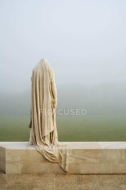 Mother Canada statue at Canadian World War One Memorial, Vimy Ridge National Historic Site of Canada, Pas-de-Calais, France. — Stock Photo