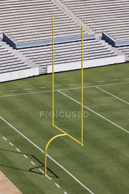 Zona de fin de campo de fútbol en Dallas, Texas, Estados Unidos - foto de stock