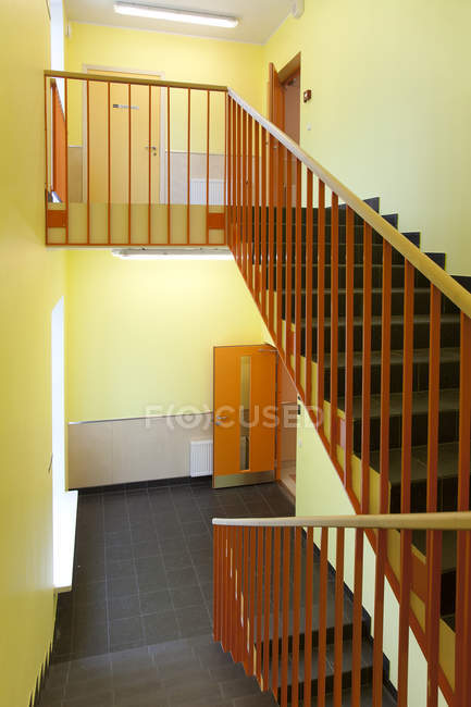 Empty hospital interior walls and stairwell in Parnu, Estonia — Stock Photo