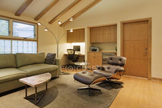 Modern living room, Dallas, Texas, United States — Stock Photo