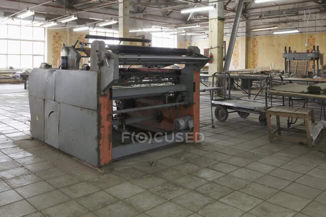 Flax Factory Equipment, Nikologory, Russia — Stock Photo