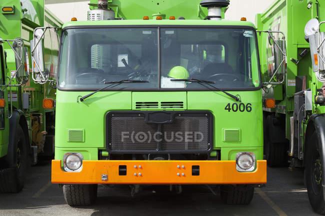 Garbage trucks fleet, Seattle, Washington, United States — Stock Photo