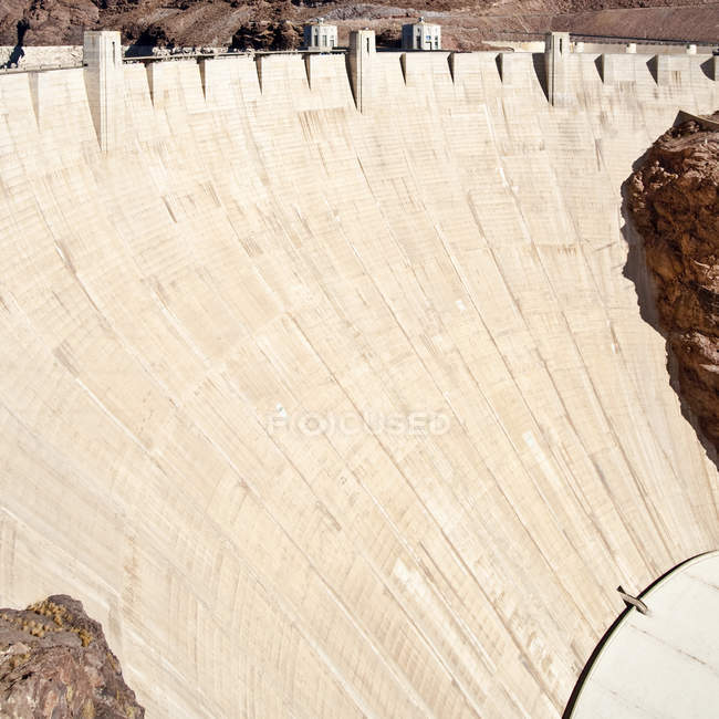 Industrial dam wall structure, Hoover Dam, Las Vegas, Nevada, USA — Stock Photo