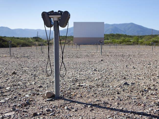 Cinema vazio do drive-in no Arizona, EUA — Fotografia de Stock