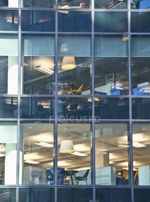 Office building windows in facade, full frame — Stock Photo