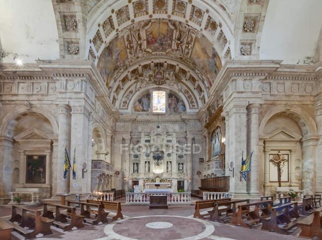 Innenraum der Kirche San Biagio Toskana, Italien — Stockfoto