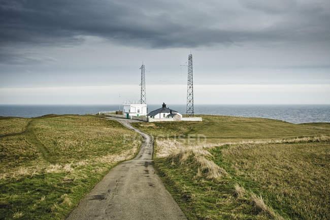 Будинок форпосту на морських кручах в Англії, Велика Британія — стокове фото
