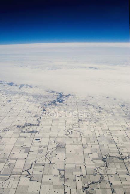 Вид з повітря прямокутної побудувати сільськогосподарський регіон на середньому заході США — стокове фото
