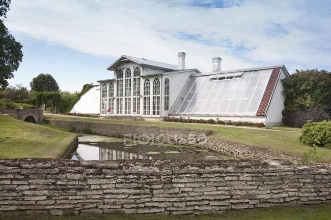 Palm house extérieur de Palmse Manor, Palmse, Estonie — Photo de stock