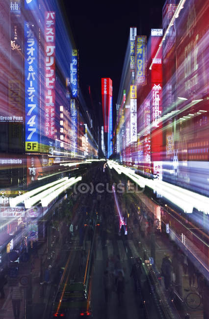 Lights and signs of Shinjuku District in Tokyo, Japan — Photo de stock