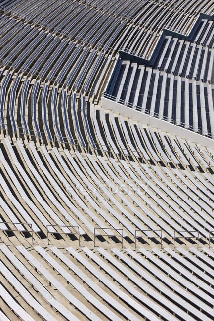 Full frame of sports stadium bleachers in Dallas, Texas, United States - foto de stock