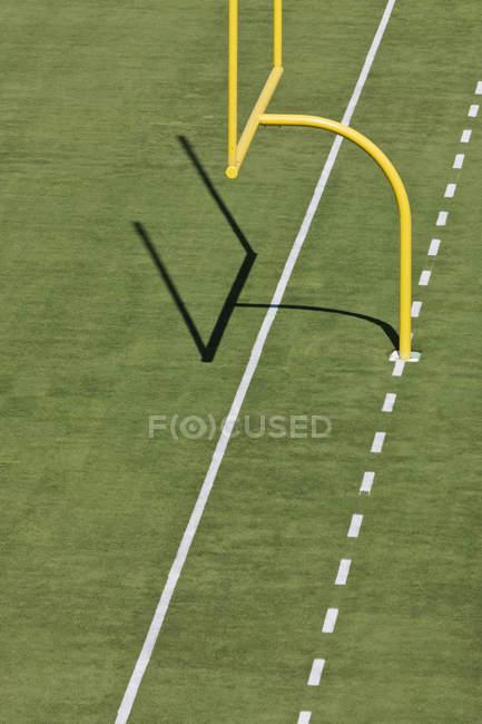Gol de fútbol post en Dallas, Texas, Estados Unidos - foto de stock