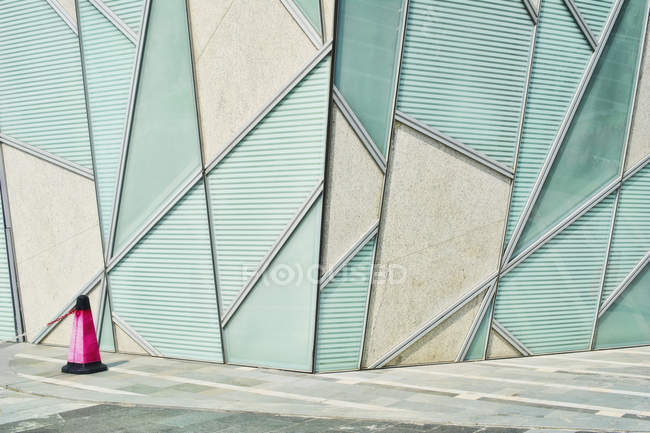 Abstract architectural detail on street of Shanghai, China — Stock Photo