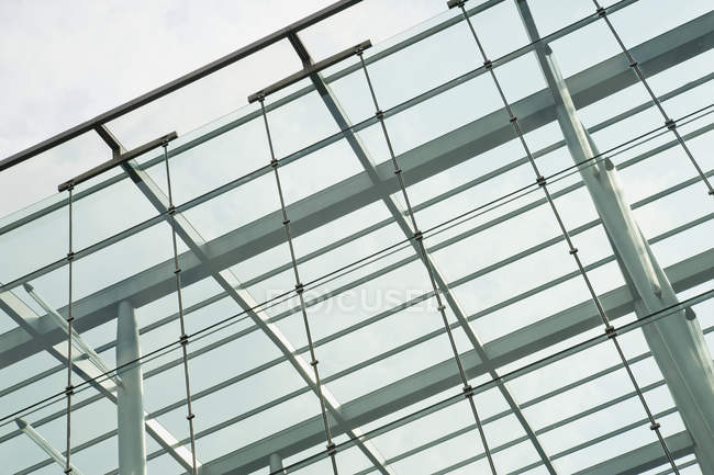 Modern architectural structure detail in low angle view, London, England, UK — Stock Photo