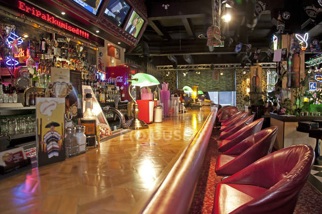 Bar at American style diner in Tallinn, Estonia — Stock Photo
