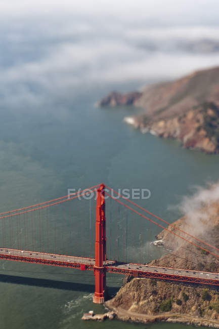 Aerial view of Golden Gate Bridge in San Francisco, California, United States — стокове фото