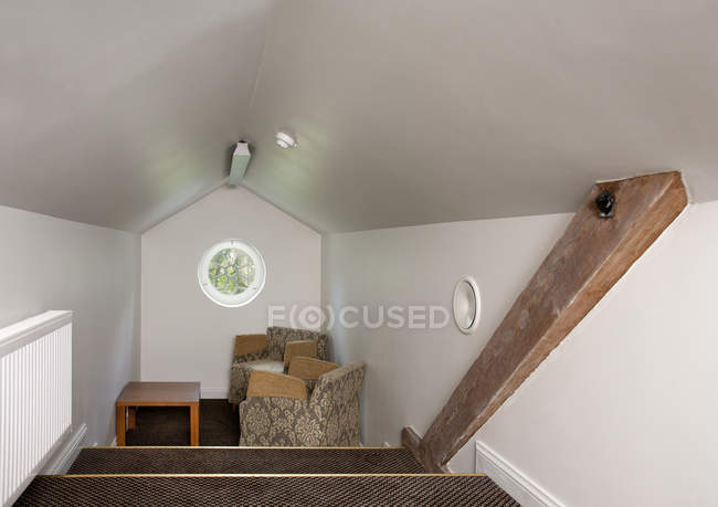 Small attic sitting room of Vihula Manor, Vihula, Estonia — Stock Photo