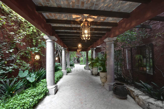Casa Luna Quebrada Walkway, San Miguel de Allende, Guanajuato, México — Fotografia de Stock