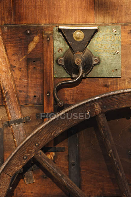 Wooden chuck wagon detail, Fort Worth, Texas, USA — Stock Photo