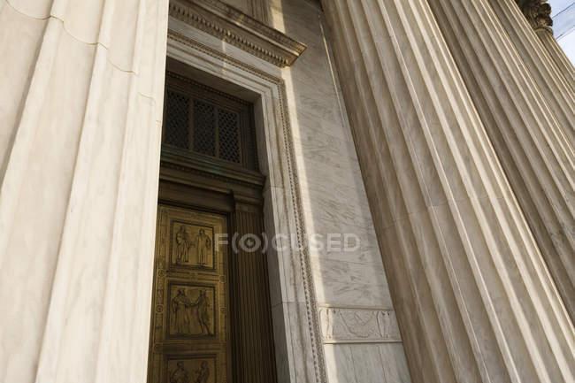 Entrada de la Corte Suprema en Washington, Dc, Estados Unidos - foto de stock
