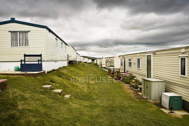 Mobile homes park, Dorset, England, Burton Bradstock, West Dorset, United Kingdom — Stock Photo