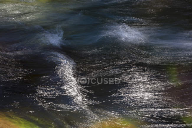 Long exposure abstract of flowing river water — Stock Photo
