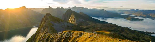Panoramic view on Senja Island, Tromso, Troms, Norway, Europe. — Stock Photo
