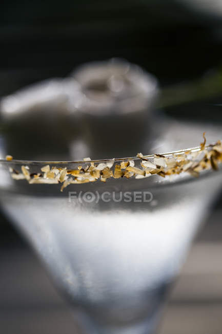 Close-up of a coconut Praow-Tini alcoholic drink. — Stock Photo
