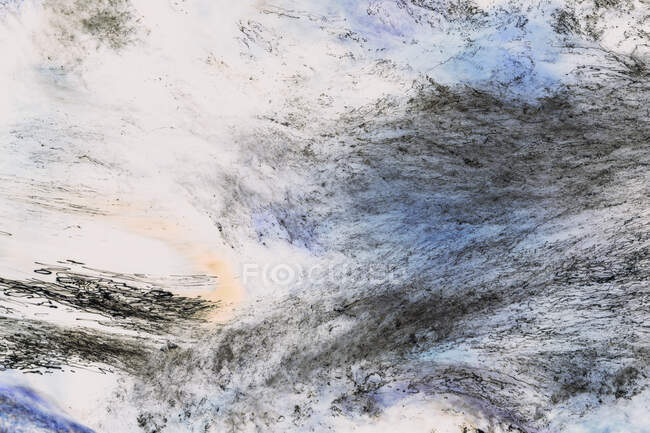 Abstract closeup of inverted image of fast flowing river water, North Fork Snoqualmie River, near North Bend, Washington — Stock Photo