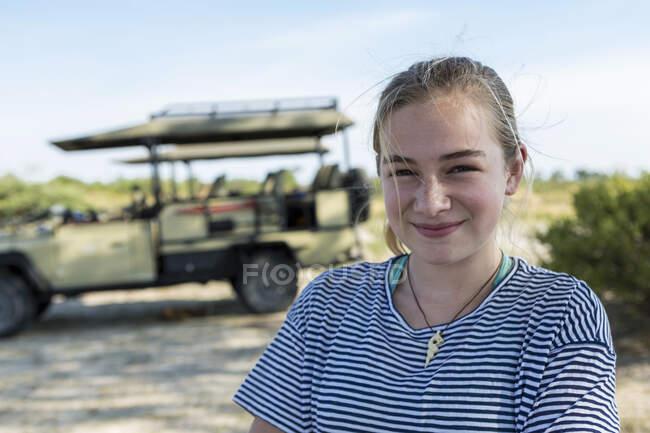 12-летняя девочка, заповедник Мореми, Ботсвана — стоковое фото