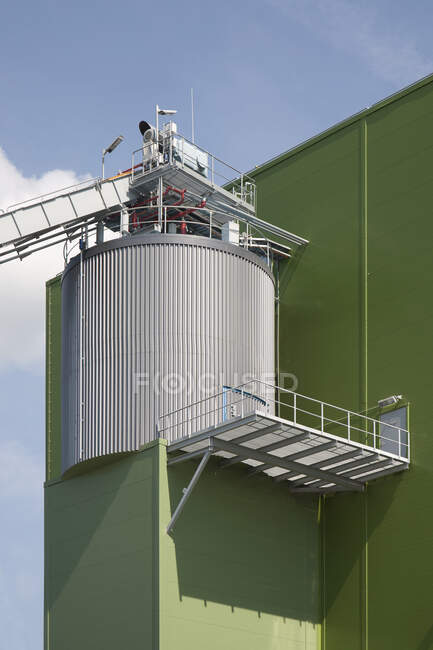 Cropped Power Plant Exterior, low angle view — Stock Photo