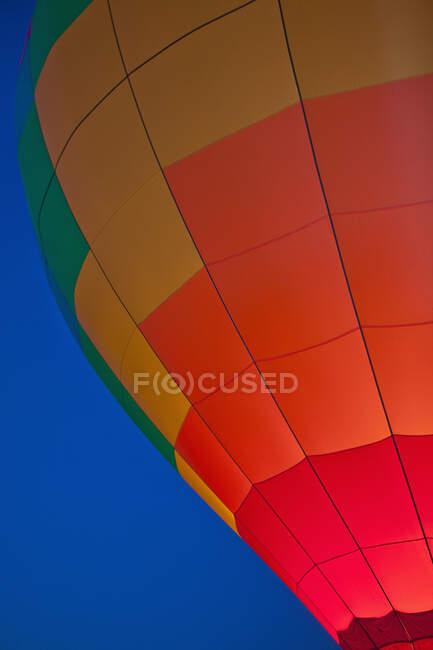 Hot Air Balloon Lit Up at Night — Stock Photo