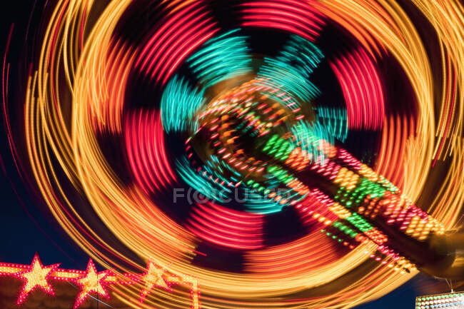 Amusement Park Ride At Night — Stock Photo