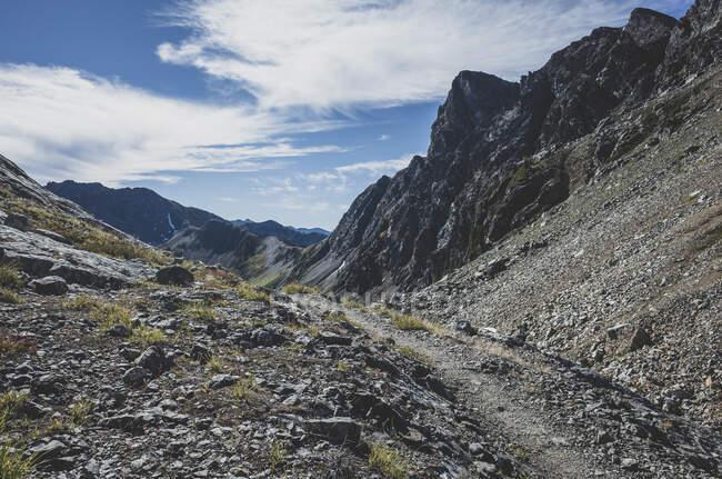 Вид на отдаленный участок тропы Тихоокеанского креста — стоковое фото