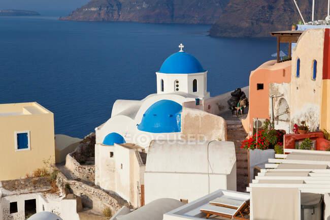 Villaggio di Oia Santorini Isole Cicladi, Grecia — Foto stock